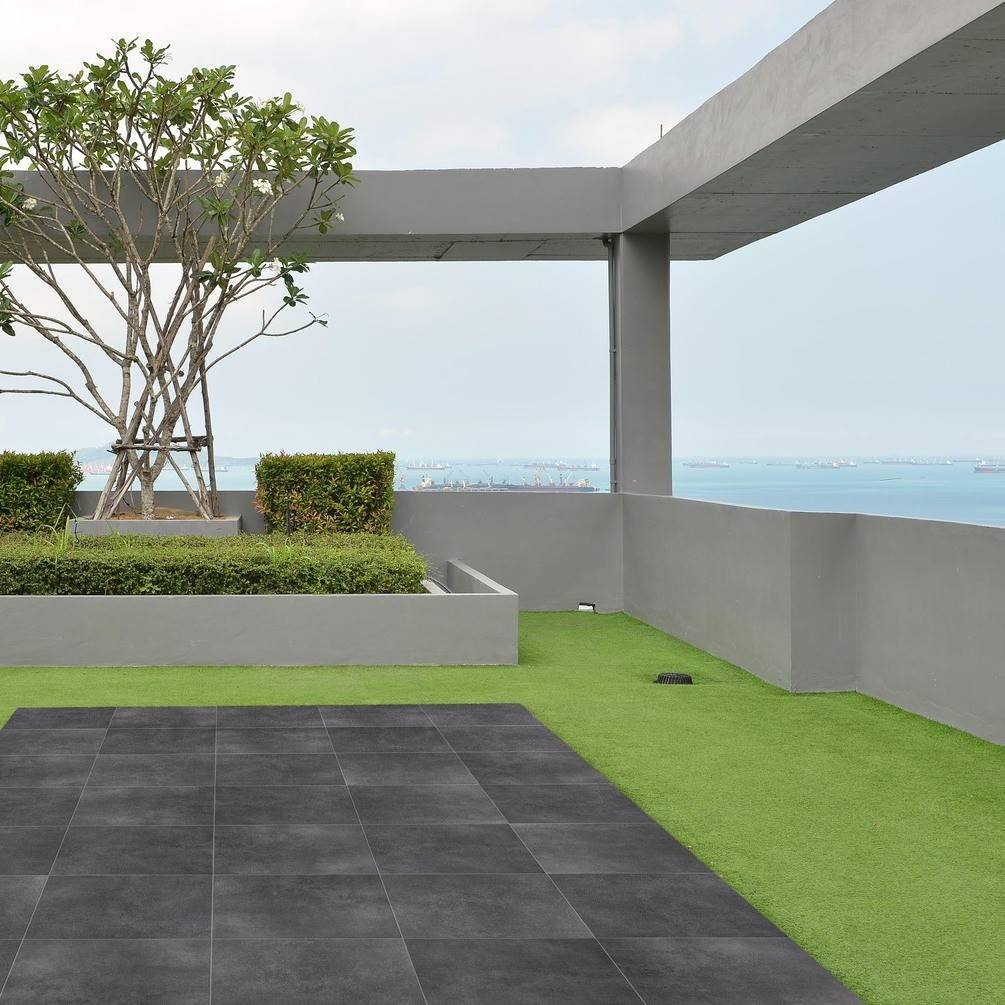 Beton Anthracite Grey Tile